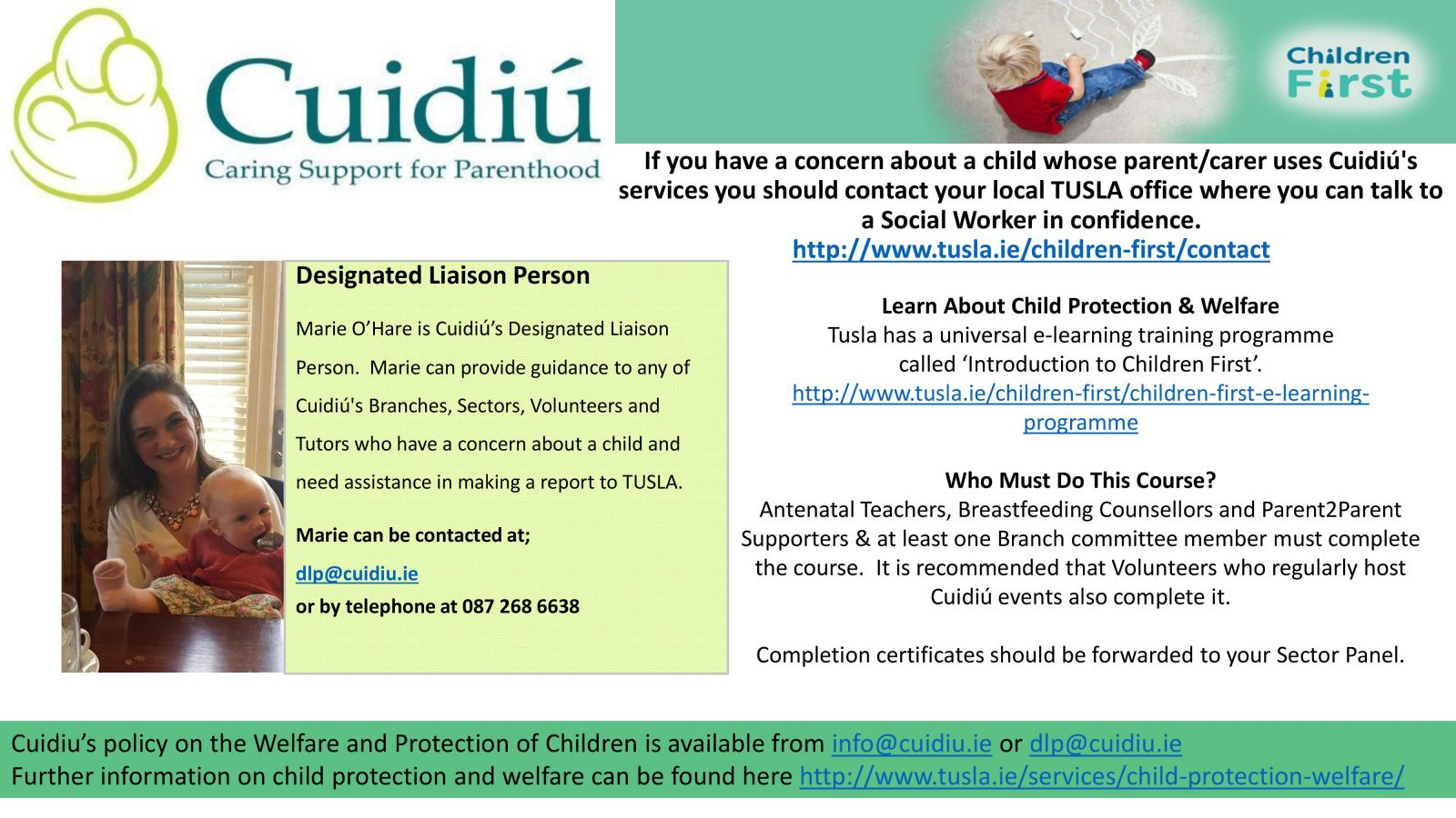 Designated Liaison Person for Child Protection
